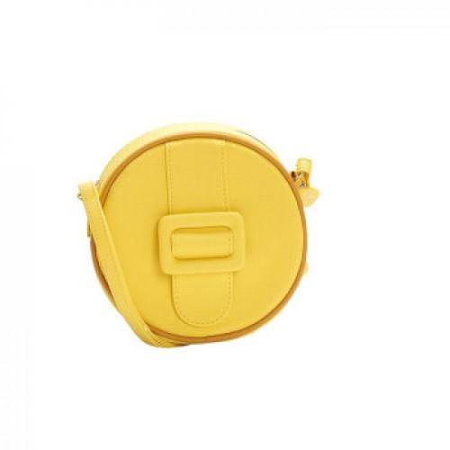 Merimies Candy Color Mini Round Bag Yellow Bag