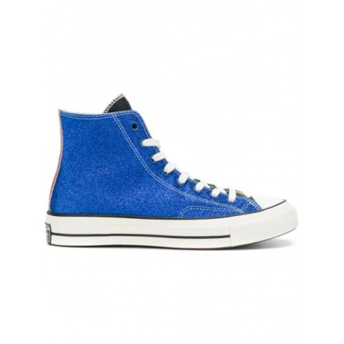Converse x JW Anderson High Top Blue Green Red Canvas Shoes
