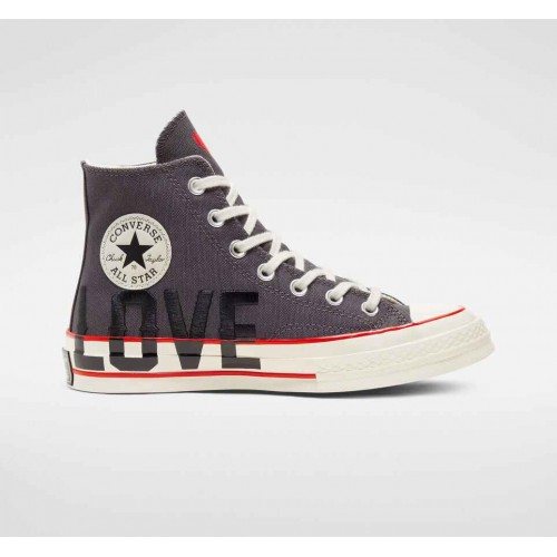 Converse Grey Love Fearlessly Chuck 70 Unisex High Top Shoe