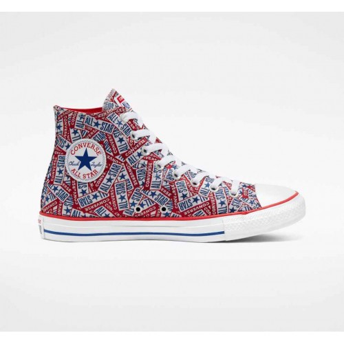Converse Red Logo Play Chuck Taylor All Star Unisex High Top Shoe