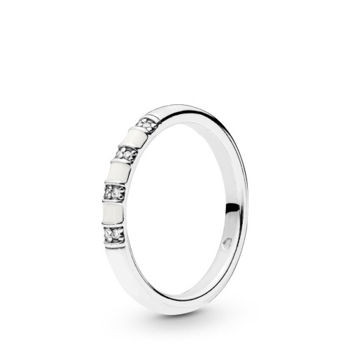 White Stripes Ring