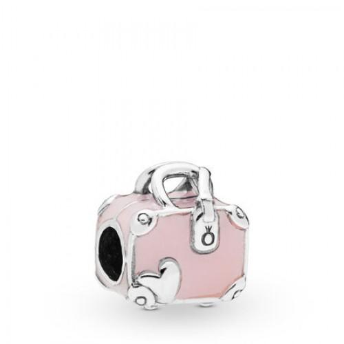 Pink Travel Bag Charm
