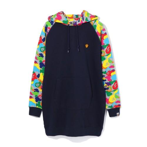 Bape Milo ABC Multi oversize hoodie Navy Blue