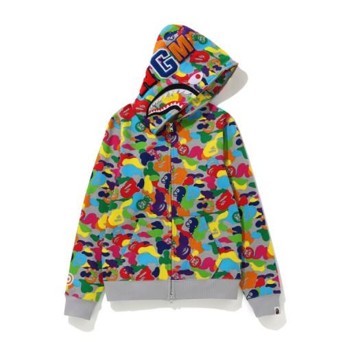 Bape Milo ABC Multi Shark full zip hoodie Caise