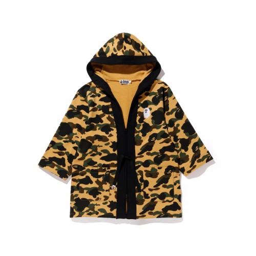 Bape 1st Camo kimono zip hoodie Mellow Yellow