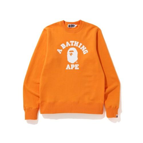 Bape College sweatshirt Tangerine