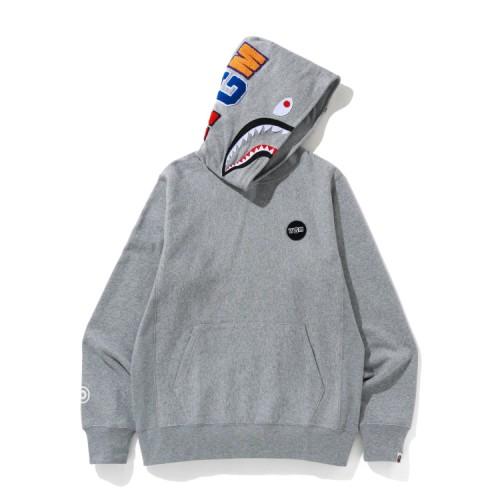 Bape Shark print hoodie Grey