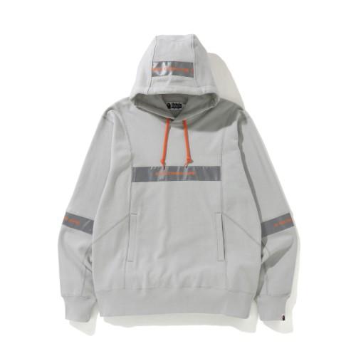 Bape Wide Patchwork hoodie Grey