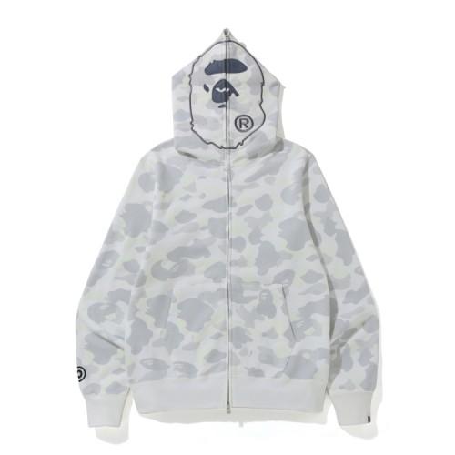 Bape City Camo 2nd Ape full zip hoodie White