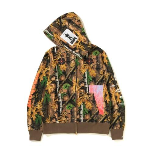 Bape Forest Camo full zip hoodie Beige