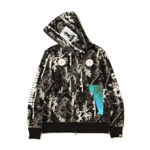 Bape Forest Camo full zip hoodie Black