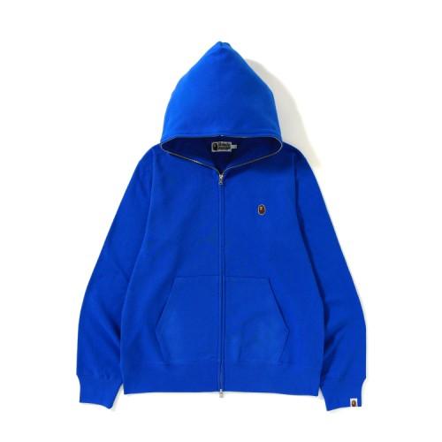 Bape Ape Head One Point full zip hoodie Blue
