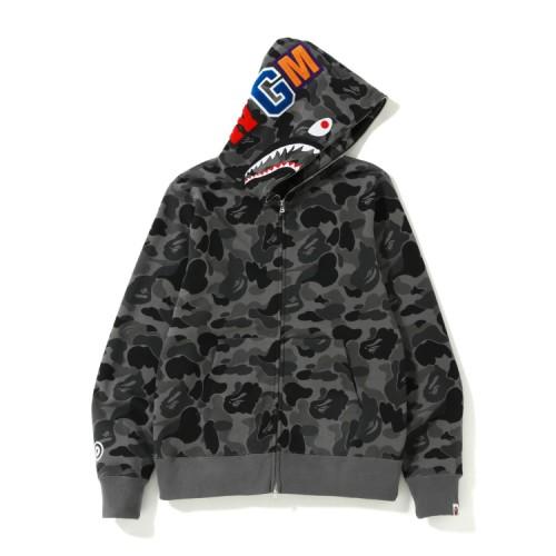 Bape ABC Shark full zip hoodie Dark Grey