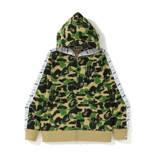 Bape ABC Bape Sta Tape full zip hoodie Army Green