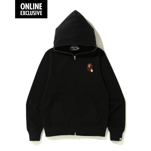 Bape Bape Online full zip hoodie Black