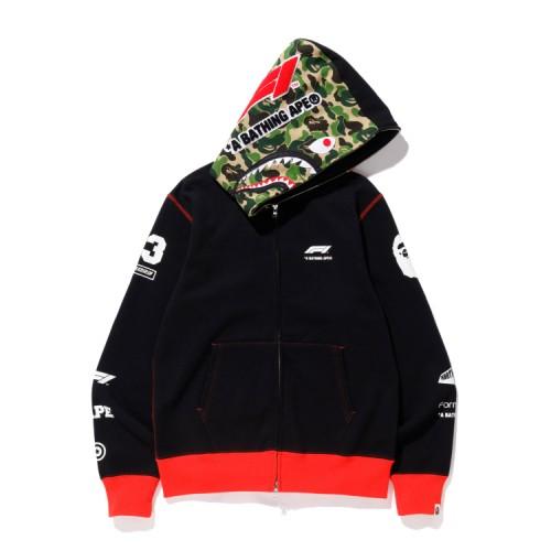 Bape F1 Bape Shark full zip hoodie Black