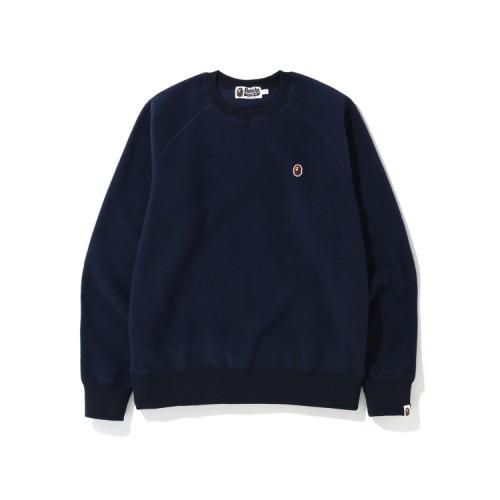 Bape Fleece one point sweatshirt Navy Blue