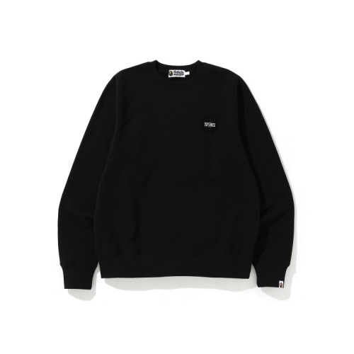 Bape WGM Shark emblem sweatshirt Black
