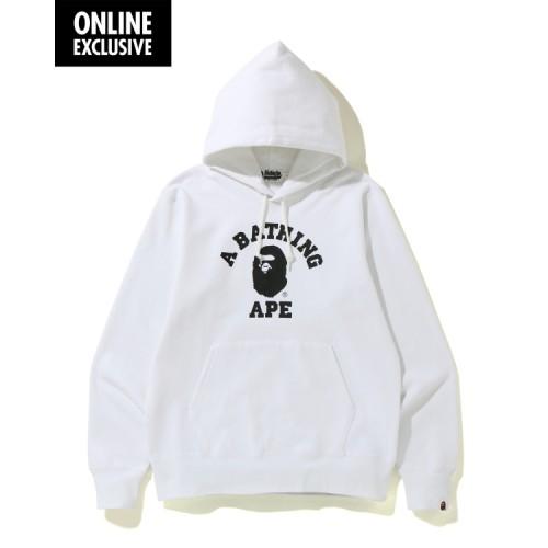 Bape College hoodie White