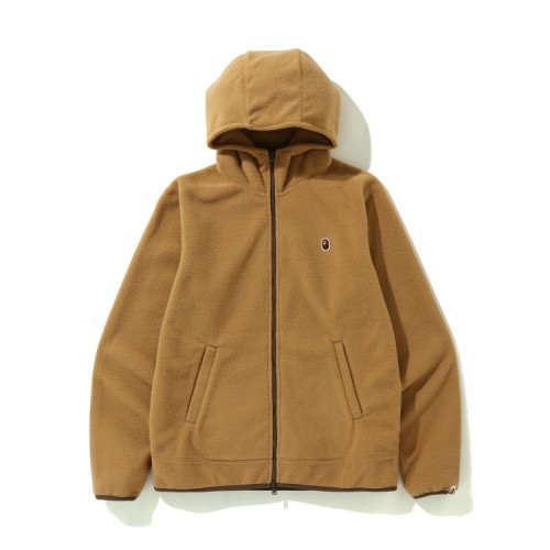 Bape Fleece one point zip hoodie Beige