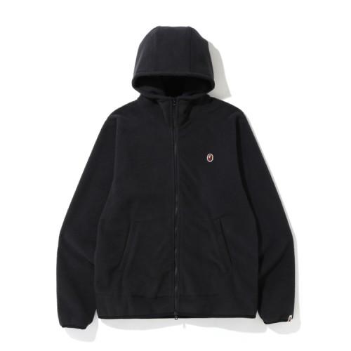 Bape Fleece one point zip hoodie Black