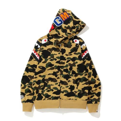 Bape 1st Camo Shark zip hoodie Mellow Yellow