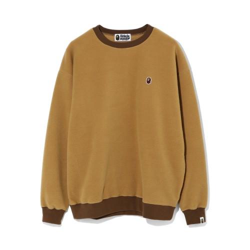 Bape Fleece one point oversize sweatshirt Beige