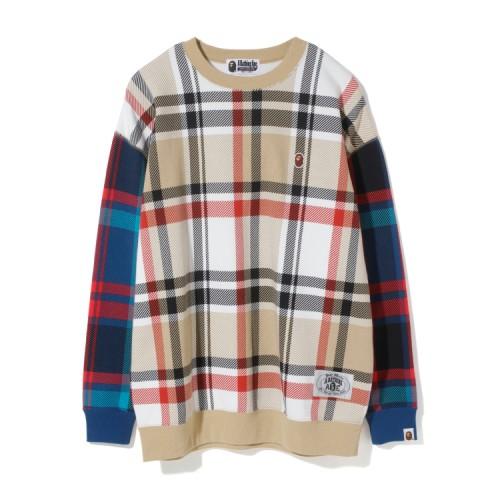 Bape Check oversize sweatshirt Caise