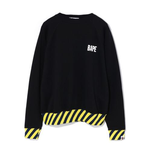 Bape Stripe Rib Wide sweatshirt Black