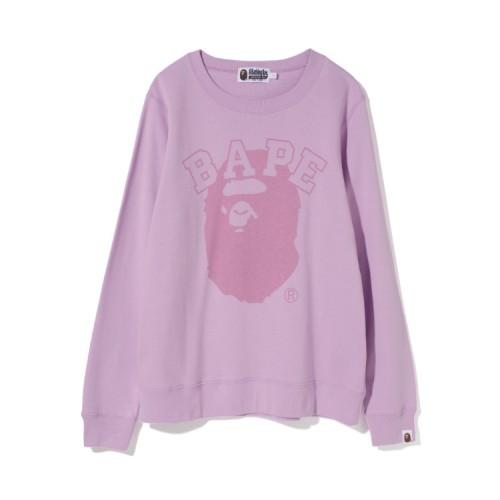 Bape Pigment Bape Ape Head sweatshirt Violet