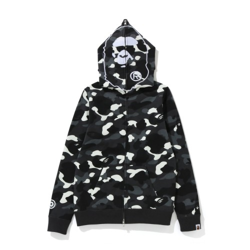 Bape City Camo 2nd Ape full zip hoodie Black
