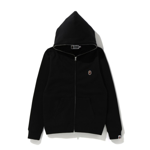 Bape One Point zip hoodie Black