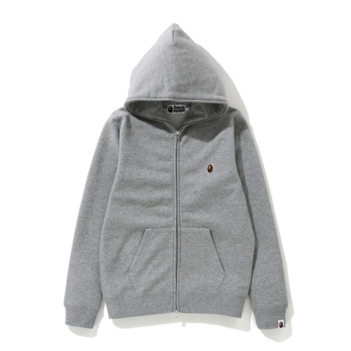 Bape One Point zip hoodie Grey