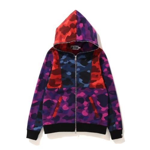 Bape Crazy Color Camo full zip hoodie Caise