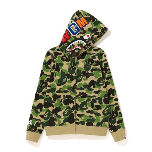 Bape ABC Shark full zip hoodie Army Green