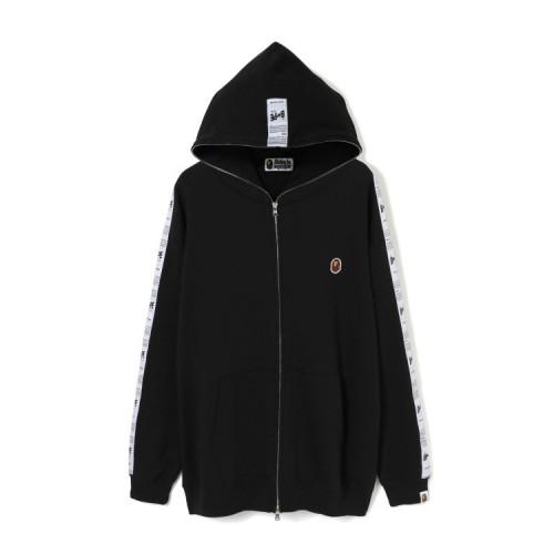 Bape BAPE STA tape oversized full zip hoodie Black
