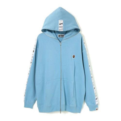 Bape BAPE STA tape oversized full zip hoodie Light Blue
