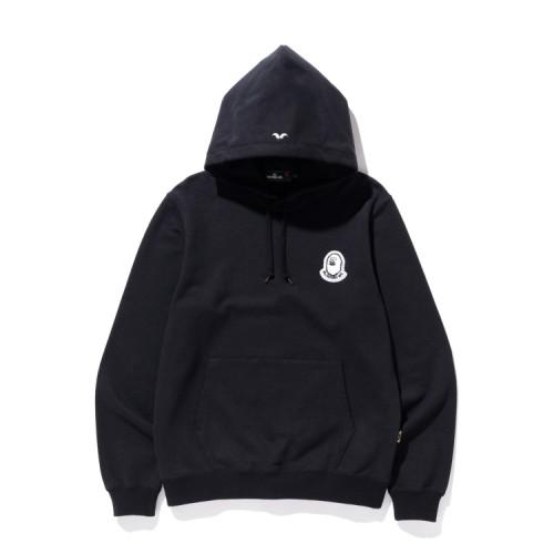 Bape Mr Bathing Ape patched hoodie Black