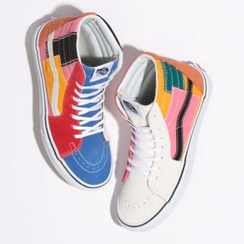 Vans Men Shoes Patchwork Sk8-Hi Multi/True White