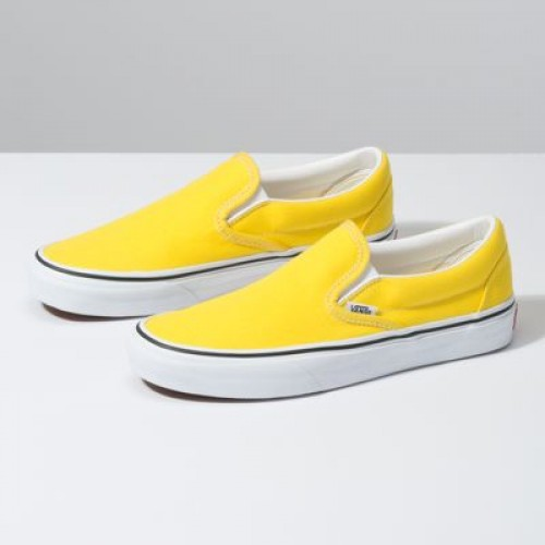 Vans Women Shoes Slip-On Vibrant Yellow/True White