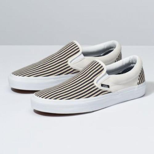 Vans Men Shoes Denim Stripes Slip-On