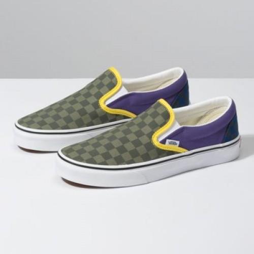 Vans Women Shoes OTW Rally Slip-On Green/Purple/Blue