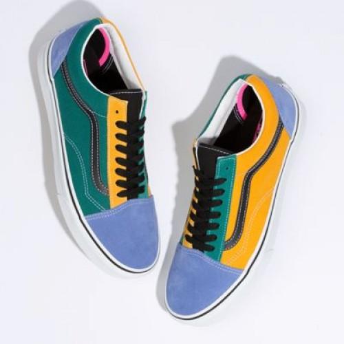 Vans Men Shoes Mix & Match Old Skool Cadmium Yellow/Tidepool
