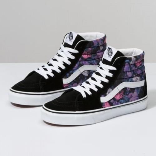 Vans Women Shoes Warped Floral Sk8-Hi Black/True White