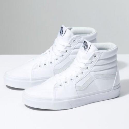 Vans Men Shoes Canvas Sk8-Hi True White