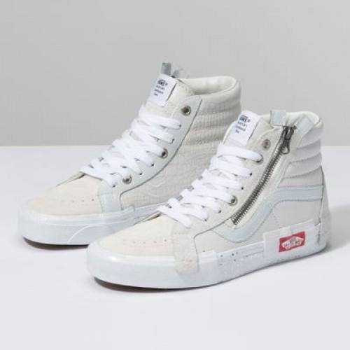Vans Women Shoes Glitter Mix Sk8-Hi Reissue CAP Blanc De Blanc/True White