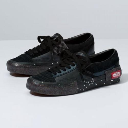 Vans Women Shoes Glitter Mix Slip-On CAP Black/True White