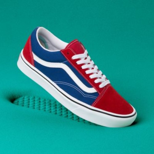Vans Men Shoes ComfyCush Two-Tone Old Skool Chili Pepper/True Blue