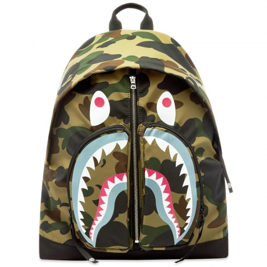 Bape 1st Camo Shark Day Pack