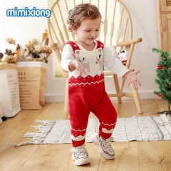 Baby Christmas Knitted Sleeveless Romper 82W303